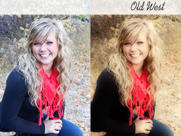 oldwest before and after photoshop action