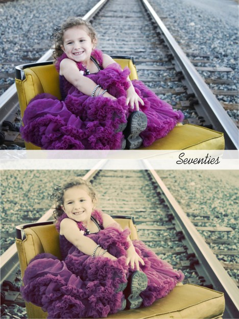 seventies photoshop action before and after