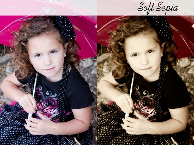 soft sepia photoshop action before and after