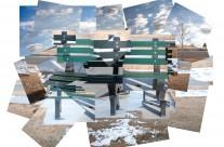 Hockney Style -Green Bench